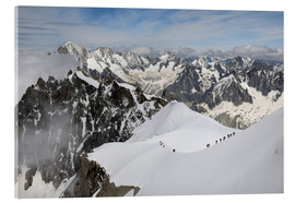 Acrylic print  Mountaineers and climbers - Peter Richardson