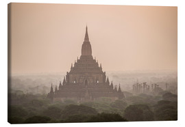 Canvas print  Sunrise at Sulamani Buddhist Temple - Matthew Williams-Ellis