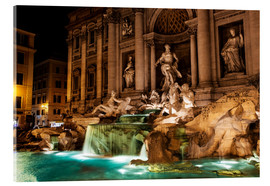 Acrylic print  Trevi Fountain in the night - Reynold Mainse