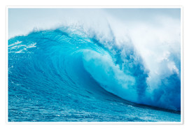 Premium poster  Beautiful Blue Ocean Wave