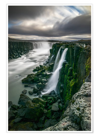 Premium poster Waterfall in Selfoss