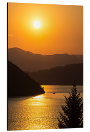 Aluminium print  Sunset over Howe Sound - Bill Collins