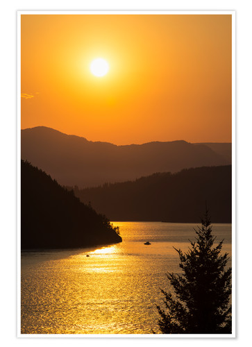 Premium poster Sunset over Howe Sound