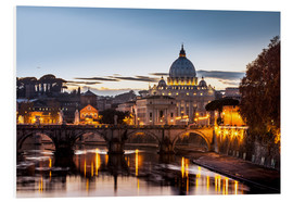 Foam board print  St. Peter's Basilica at sunset - Reynold Mainse