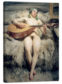 Canvas print  The Lute Player - Anders Leonard Zorn