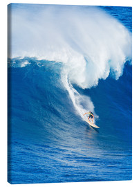 Canvas print  Surfer rides on a wave