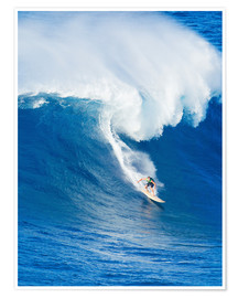 Premium poster Surfer rides on a wave