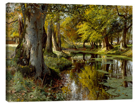 Canvas  Late summer at Waldbach - Peder Mork Mönsted