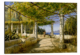 Alu-Dibond  Pergola on Capri overlooking the Vesuvius - Peder Mork Mönsted