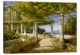 Canvas  Pergola on Capri overlooking the Vesuvius - Peder Mork Mönsted