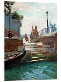 Acrylic glass  Summer day in Venice - Peder Mork Mönsted