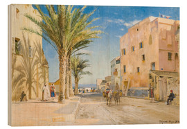 Wood print  Afternoon in Algiers - Peder Mørk Mønsted