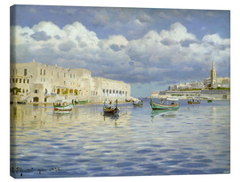 Canvas print  In the port of Malta - Peder Mork Mönsted