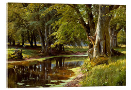 Acrylic glass  Summer day at forest stream - Peder Mork Mönsted