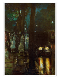Premium poster  Night scene at Kurfürstendamm - Lesser Ury