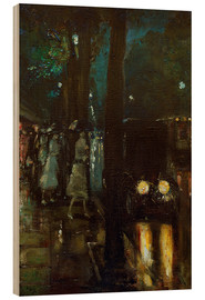 Wood print  Night scene at Kurfürstendamm - Lesser Ury