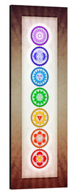 Alu-Dibond  The Seven Chakras Series 6 - Color Variation Warm Brown - Dirk Czarnota