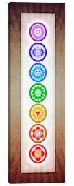 Canvas print  The Seven Chakras Series 6 - Color Variation Warm Brown - Dirk Czarnota