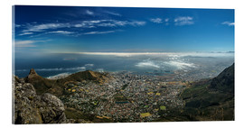 Acrylic glass  Panorama Cape Town South Africa - Achim Thomae