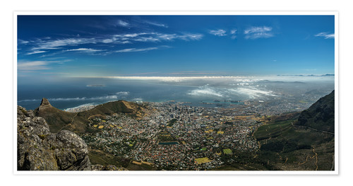 Premium poster Panorama Cape Town South Africa