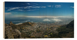 Wood print  Panorama Cape Town South Africa - Achim Thomae