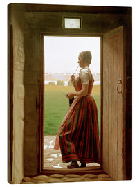 Canvas print  Will he not come soon? - Christen Dalsgaard