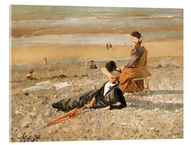 Acrylic print  A beautiful day in Le Tréport - Alfred Stevens