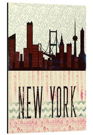 Aluminium print  New York in the rain - Sybille Sterk