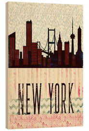 Wood  NewYork in the Rain - Sybille Sterk