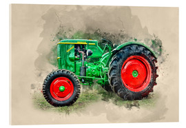 Acrylic glass  Deutz tractor Oldtimer - Peter Roder