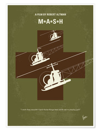 Premium poster No733 My MASH minimal movie poster