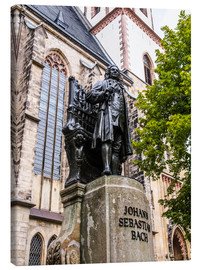 Canvas print  Bach Monument in Leipzig