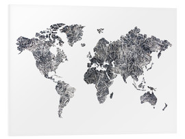 Forex  World Map - Dried