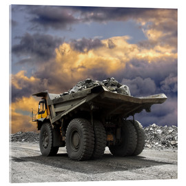 Acrylic print  Severe weather in the gravel pit
