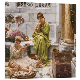 Foam board print  Corner of the marketplace - Sir Edward John Poynter