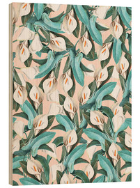 Wood print  Exotic Florals - Uma 83 Oranges