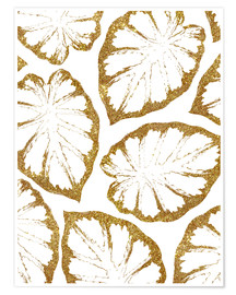 Premium poster Monstera Gold