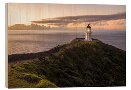 Wood print  Cape Reinga - New Zealand - Thomas Klinder