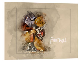 Acrylic glass  american football - Peter Roder