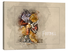 Canvas  american football - Peter Roder