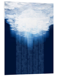 Foam board print  Cloud computing, conceptual artwork - VICTOR HABBICK