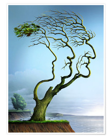 Premium poster Family tree, conceptual artwork