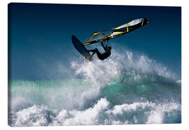 Canvas  Windsurfer in the air - Ben Welsh