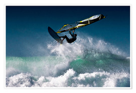 Premium poster  Windsurfer in the air - Ben Welsh