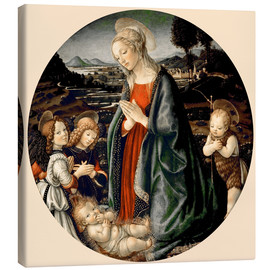 Canvas print  The Virgin Adoring the Christ Child with St. John the Baptist and Two Angels - Sandro Botticelli