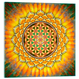 Acrylic glass  Flower of life - yellow lotus - Dirk Czarnota