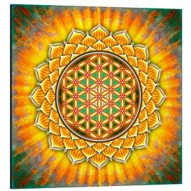 Alu-Dibond  Flower of life - yellow lotus - Dirk Czarnota