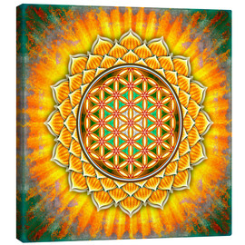 Canvas print  Flower of life - yellow lotus - Dirk Czarnota