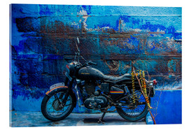 Acrylic print  Motorcycle parked on the street of Jodhpur - Laura Grier
