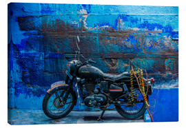 Canvas print  Motorcycle parked on the street of Jodhpur - Laura Grier